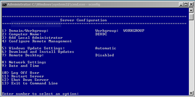 Screenshot, Windows Update on Windows Server Core
