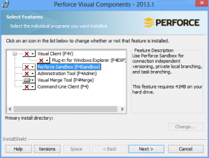 Select the Visual Merge Tool feature