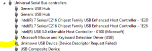Device Descriptor Request Failed