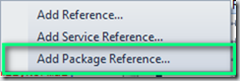 Add Package Reference