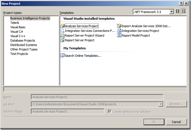 Bi templates missing in visual studio an insomniac geek image friedricerecipe Image collections