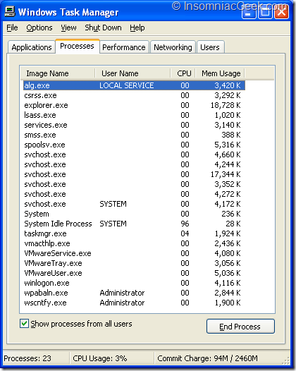 Task manager with .NET 3.5 SP1