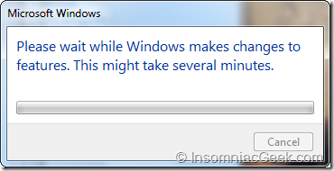 Windows makes changes to features.