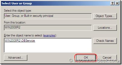Screenshot of the user account selection dialog