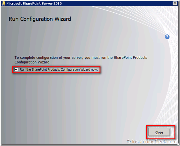 Run Configuration Wizard
