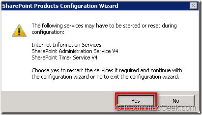 Ok to restart services?