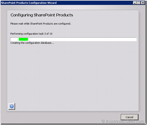 SharePoint products are configured